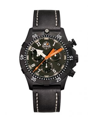 COMMANDER SPORT - 20 atm - chronograph - leather bracelet