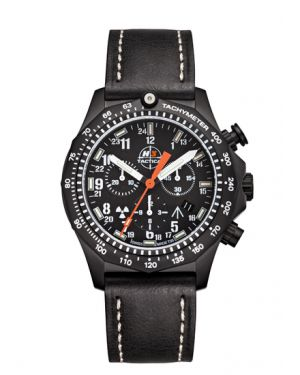 COMMANDER - 20 atm - chronograph - leather bracelet